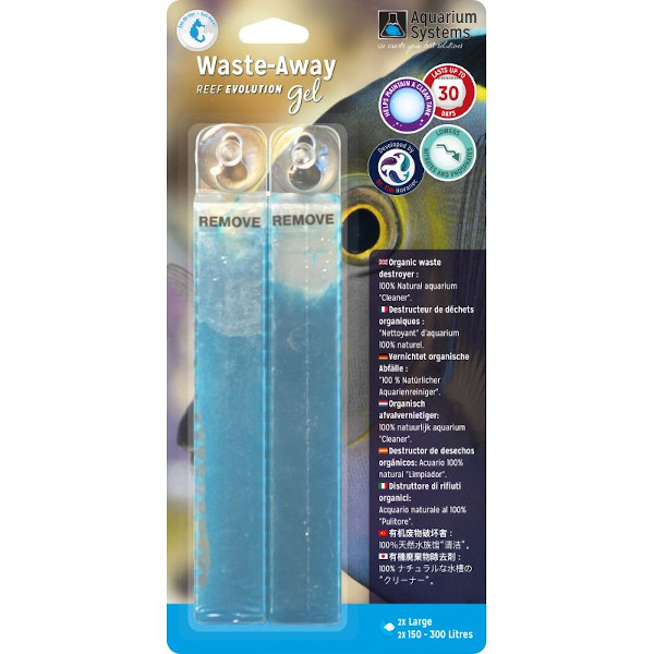 AQUARIUM SYSTEMS Waste-Away Gel  L - Marinho (2un)