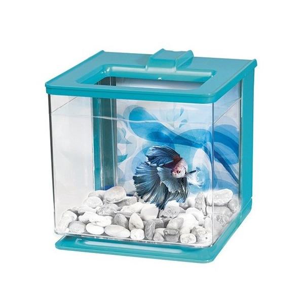 MARINA Aquário Kit p/ Betta EZ Care 2,5L Azul